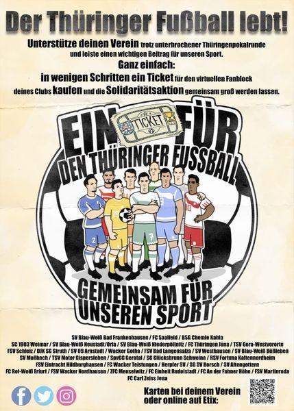 FC CZ Jena: Soli-Aktion für die 32 Vereine im Thüringer Landespokal